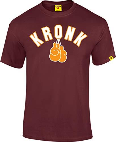 KRONK Guantes de Boxeo Camiseta de Corte Regular para Hombre Maroon pequeña