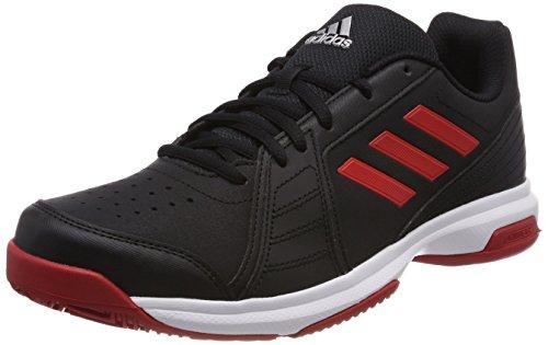adidas Herren Approach Tennisschuhe, Schwarz (Core Black/Scarlet/Ftwr White), 47 1/3 EU