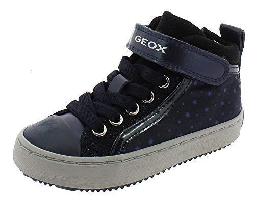 Geox Mädchen High-Top Sneaker Kalispera Girl, Kinder Sneaker,Sportschuh,Sneaker-Stiefelette,mid-Cut,atmungsaktiv,BLAU,27 EU / 9 UK Child