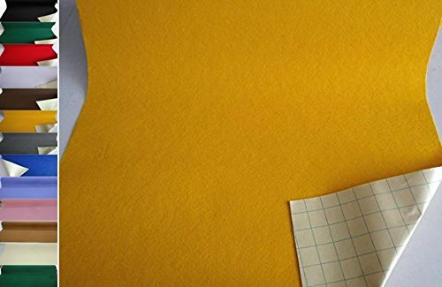 StoffBook EDEL BASTELFILZ FILZSTOFF SELBSTKLEBEND 50CM BREIT STOFF, B790 (gelb)