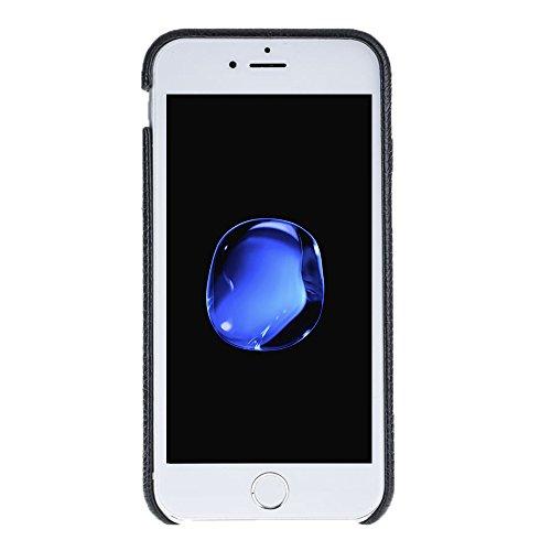 "Solo Pelle Iphone 7 / 8 Case Lederhülle Ledertasche Backcover "" Slimfit "" in Schwarz Fullcover-Schwarz"