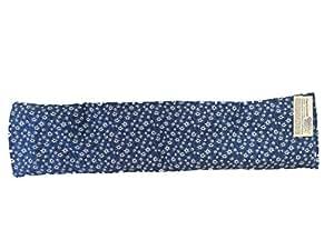 Fascia con nocc di ciliegia LAVABILE con 0,8 kg noccioli dim. 60 * 15 cm realizzato in Trentino (Blu stella alpina)