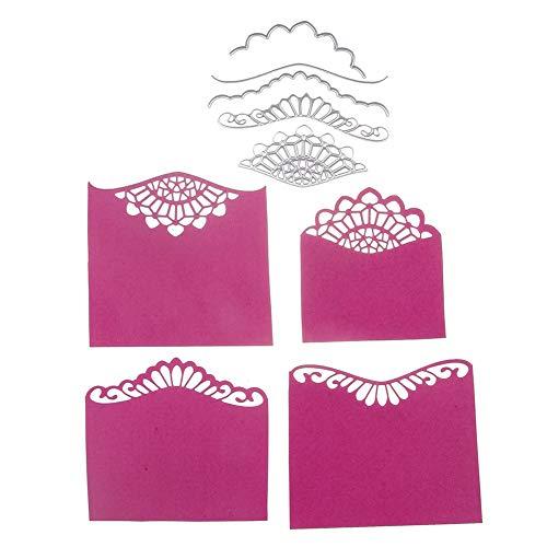 Troqueles de corte de acero al carbono con marco de flores para manualidades, álbumes de recortes, tarjetas de papel, decoración - Plata