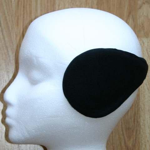 Black wraparound ear muffs earmuffs warmers Standard Thickness Test