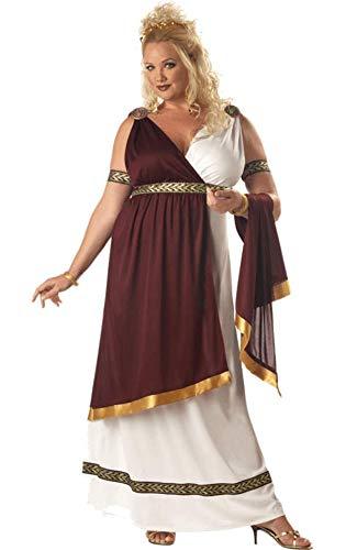 Kaiserin Römerin Toga Kostüm Fasching Verkleidung XXL - Toga Für Erwachsene Damen Kostüm