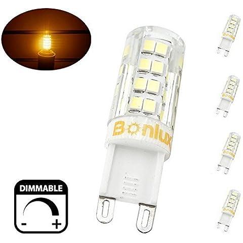 Bonlux 4-Packs 4W Dimmable G9 Capsule Ampoule LED blanc chaud