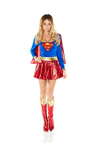 Damen Superhero-Kostüm SUPERGIRL 2 - Gr. (Kostüm Woman Da Wonder)
