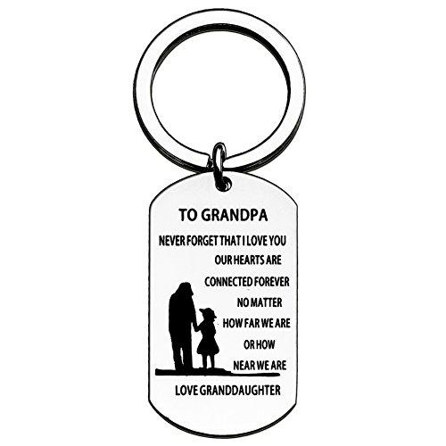 Opa Enkelin Schlüssel Kette für Herren-Nie Vergessen, dass ich liebe sie, egal wie weit Wir sind Grandpa Granddaughter