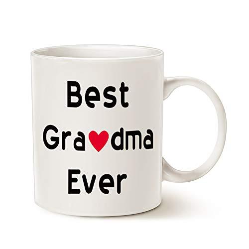 Christmas Gifts Best Grandma Coffee mug–Best Grandma Ever–unico Natale o compleanno regalo idea per nonna nonna Grandmama tazza in porcellana bianca, 396,9gram