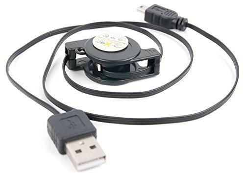 Für Blue Microphones Yeti Pro USB Kondensator-Mikrofon: Aufziehbares Ladekabel mit Mini-USB- und Standard-USB-Stecker. Für Aufnahmen & zum Synchronisieren mit Ihrem PC|Laptop (Blue Yeti Usb-kabel)