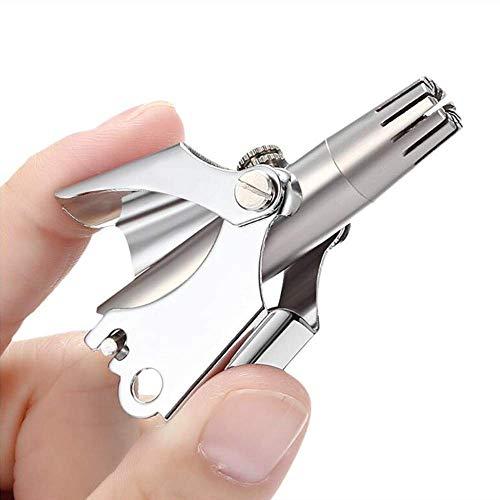 Trimmer Professionale per Capelli Mini Naso, Tenfong Senza Batteria da Viaggio, in Acciaio INOX, Nasale Hair Trimmer Professionale, Portatile per la casa di Viaggio Trimmer