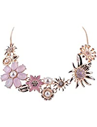 70cbae6ef SIX 1 pc. of Ladies Necklace, Statement Necklace with Floral Pattern and  Big Flowers
