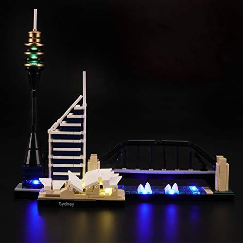 LIGHTAILING Conjunto de Luces (Architecture Sydney) Modelo de Construcción de Bloques - Kit de luz LED Compatible con Lego 21032 (NO Incluido en el Modelo)