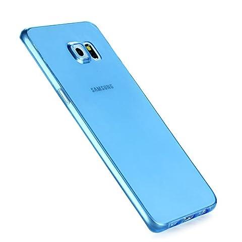 Liamoo dünne rundum TPU Schutzhülle für Samsung Galaxy S6 edge plus blau/transparent