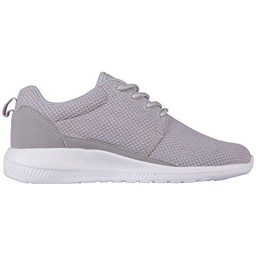 Kappa Speed II Footwear Unisex, Mesh/Synthetic, Scarpe da Ginnastica Unisex – Adulto Grigio (1410 L´grey/white)