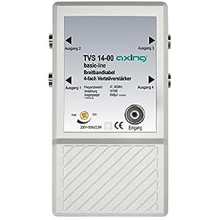 Axing TVS 14-00 4 fach Verteilverstärker für kleine BK (Kabelfernsehen) und terrestrische Netze mit UKW u. DVB-T2 HD