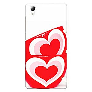 DASM United Vivo Y51L Premium Back Case Cover - Heart Paint Cups