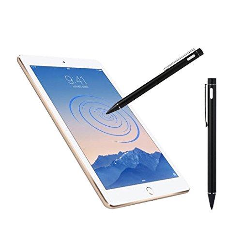 Bescita Stylus Pen Eingabestift + Kugelschreiber für Apple iPad Air / Apple iPad mini 3 / Apple iPad mini 2, Iphone,Galaxy Tab, Galaxy S2 S3,Android etc (Schwarz)