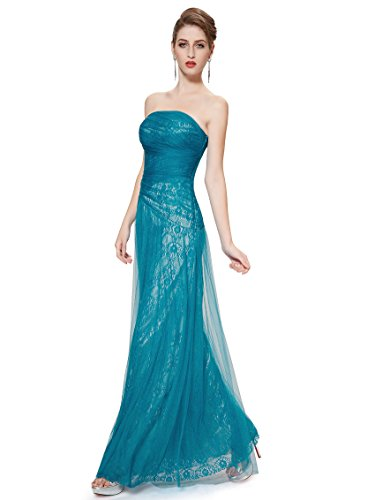 Ever Pretty Robe de cocktail longue bustier ¨¦l¨¦gante 08336 Bleu clair