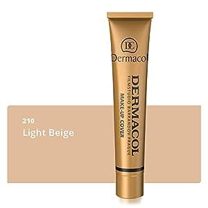 Dermacol Deckendes Make-up Cover für Gesicht und Hals - Wasserfeste Foundation mit LSF 30 für einen makellosen Teint - 210, 30g