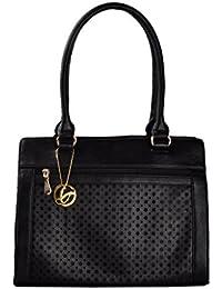 Shopclans Black Color Handbag For Girls / Women's L Material: Faux Leather (SPC-032)