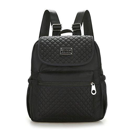 Mädchen Schulrucksack, Veriya Fashion Damen Nylon Rucksack Kinderrucksack Outdoor Freizeit Daypacks Schultaschen für Teenager (schwarz)