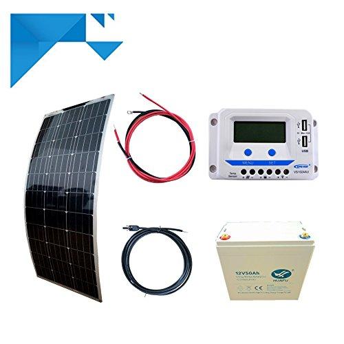 Kit Solaire 100W Souple 12V PWM EPEVER Autonome avec Batterie 600W