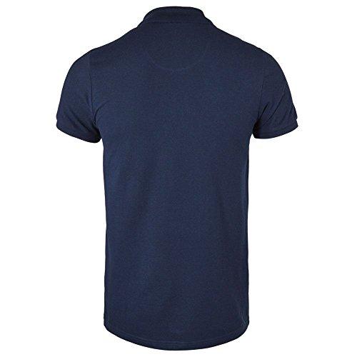 Herren Brave Soul Pique Polohemd Shorts Mit ärmeln Knopfkragen Marine