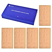 CHUSE Microblading Practice Skin 3D Eyebrow+Lips Cosmetic Permanent Makeup Tattoo Training Sheet 14.8×26.2×0.14cm(5 pieces of pack)