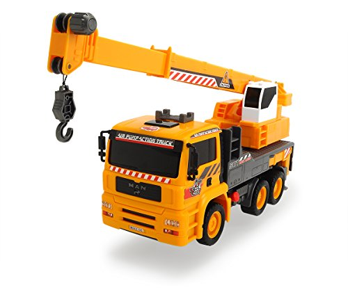 (Dickie Toys 203806003 - Air Pump Mobile Crane, MAN Kranwagen, 31 cm)