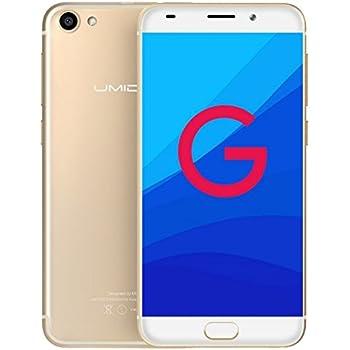 UMIDIGI G - Android 7.0 Schermo da 5 pollici GORILLA GLASS Ultra leggero e sottile 4G smartphone Quad Core 1.3GHz 2GB RAM 16GB Impronta digitale - Oro
