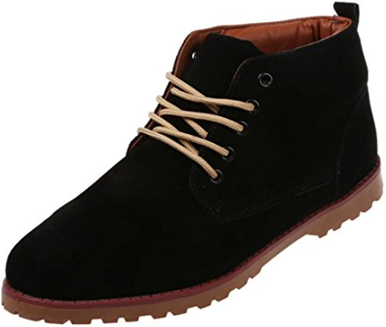 SODIAL (R) Neue Art und Weise britische Maenner Laessige Spitze Stiefeletten Loafers Schuhe Turnschuhe   Schwarz
