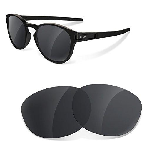 sunglasses restorer Ersatzgläser Kompatibel für Oakley Latch, Black Iridium