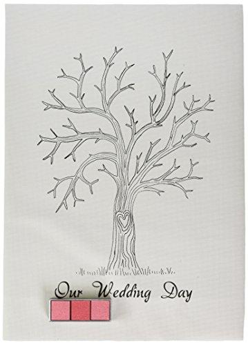 Vintage Wedding Fingerabdruck-Baum - Leinwand mit Inks & Anleitungen - Alternative Gästebuch