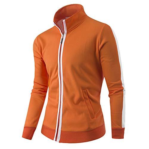 Sannysis Jacke Herren Slim Fit Pullover Langarm Mantel Männer Einfarbig Gefütterte Baseball-Uniform Jackes Oben Sweatshirt