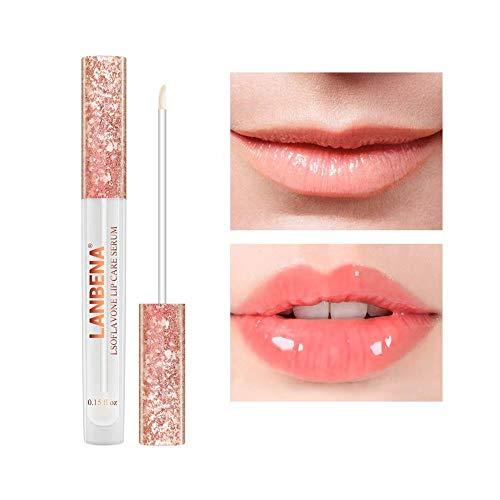 Lippenpflege Serum, Original Magical Lip Plumper Natürlicher Volumenglanz Feuchtigkeitsspendende...