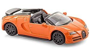 Bburago 59045 Scale Bugatti Veyron Vitesse - Vehículo a Escala 1:64, Color Naranja