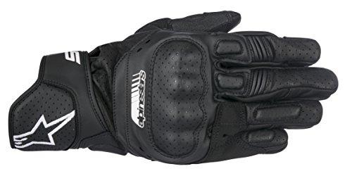 Preisvergleich Produktbild ALPINESTARS Handschuhe SP-5 Leder Motorrad Sporthandschuh schwarz Größe L / 9