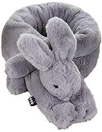 Doitsa 1 x Bufanda Peluche en algodón Grueso Invierno pañuelo Garder AU  Caliente Forma de Conejo 3D Mignon dfcc068af22