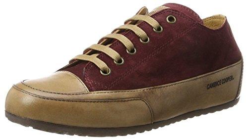 Candice Cooper Damen Camoscio Sneaker, Rot (Burgund), 36 EU (Italienisch Burgund)