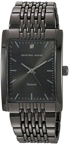 Geoffrey Beene Men's Quartz Metal and Alloy Dress Watch, Color:Black (Model: GB8092GU)