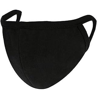 4 Stück Staubdicht Baumwolle Mund Gesicht Masken Mund Abdeckung für Mann und Frau, Schwarz