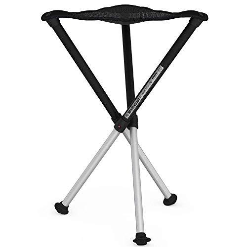 Walkstool Dreibeinhocker zum Mitnehmen Comfort schwarz, 65 cm -