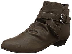 Carlton London Womens Nevaeh Khaki Boots - 5 UK/India (38 EU)