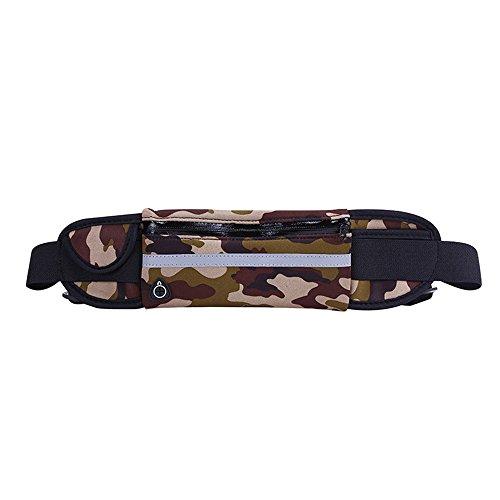 ZYPMM Anti-Diebstahl-Handy Außensporttaschen Taschen Männer und Frauen wasserdicht Multifunktions-taktisches Stealth-Flasche Taschen (wasserdicht) ausgeführt ArmyGreen