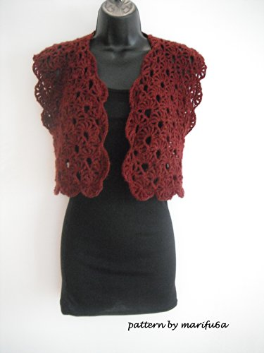 Elegant Crochet Sweet Shrug Bolero Jacket Pattern Tutorial Nr 01
