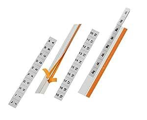 DURABLE Lot de 5 Sachets de 5 Onglets autocollants TABFIX 200 x 13 mm à découper Transparent