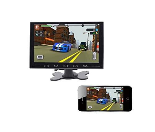 LUFEI Drahtloses Auto-Umkehrer-Display, drahtloses Handy-Interconnect mit Bildschirmdarstellung, 7 Zoll HD IPS Screen, Wide Voltage Input DC12-32V Interconnect Kit