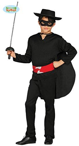 Bandit Held - Kostüm für Kinder Gr. 110 - 146, - Black Bandit Kostüm