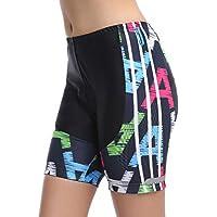 La Ropa Interior De Ciclo De La Mujer, De Secado Rápido Pantalones Cortos De Ciclista Con Alta Densidad De Alta Elasticidad Y Altamente Respirable 3D Esponja Acolchado Para Las Mujeres,Negro,XS
